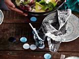 Blattsalate mit Kartoffel-Senf-Dressing Rezept