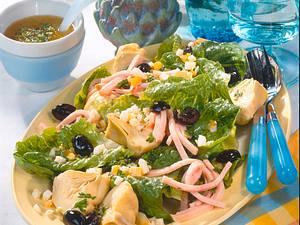 Blattsalate mit Putenstreifen Rezept