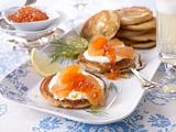 Blini mit Lachs & Kaviar Rezept