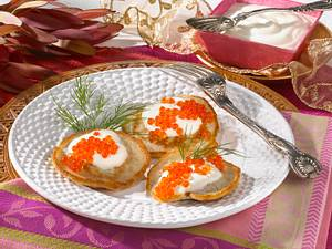 Blinis mit Forellenkaviar Rezept