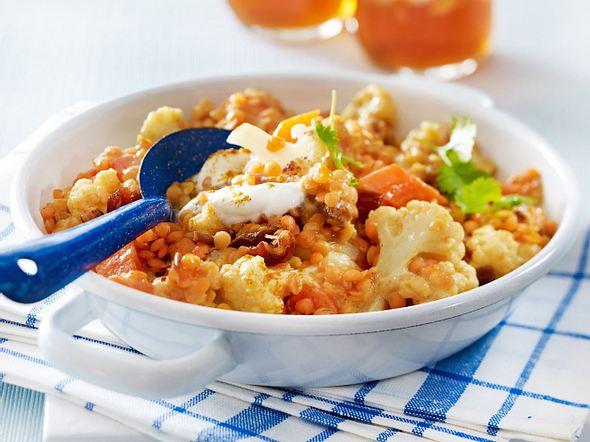 Blumenkohl-Linsen-Curry Rezept