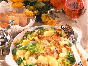 Blumenkohl-Broccoli-Gratin mit Schweinefilet Rezept