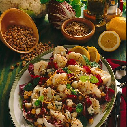 blumenkohl kichererbsen salat rezept lecker. Black Bedroom Furniture Sets. Home Design Ideas