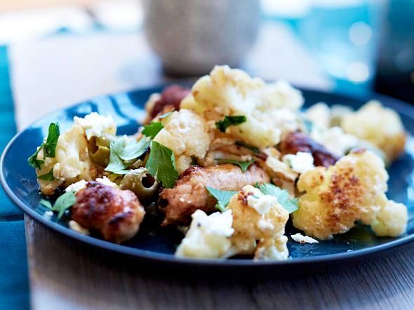 Blumenkohl mit Salsicce und Feta Rezept