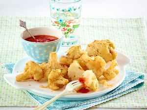 Blumenkohl-Röschen im Ausbackteig mit süß-saurem Dip Rezept