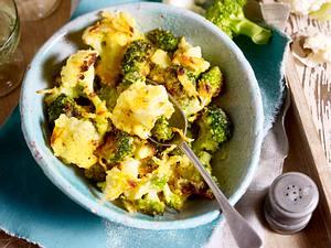 Blumenkohl-Romanesco-Brokkoli-Gratin Rezept