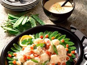 Blumenkohl-Zuckererbsen-Salat Rezept