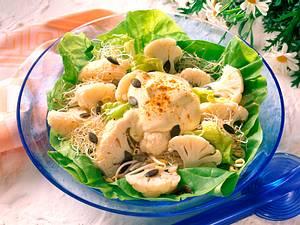 Blumenkohlsalat mit Currysahne Rezept