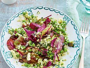Blumenkohlsalat mit Erbsen