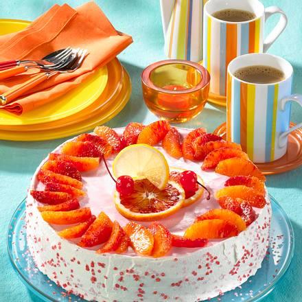 Blutorangen-Quark-Torte Rezept