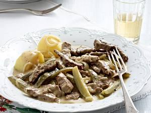 Boeuf Stroganoff mit Spreewaldgurken Rezept