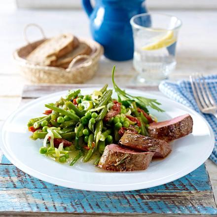 Bohnen-Erbsen-Salat zu Lamm Rezept