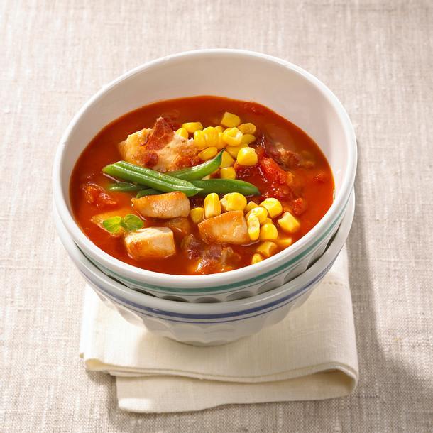 Bohnen-Mais-Eintopf mit Hähnchenfleisch Rezept