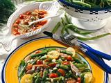 Bohnen-Matjes-Salat mit Tomaten-Dill-Vinaigrette Rezept