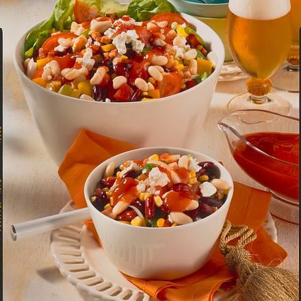 Bohnen-Schafskäse-Salat Rezept