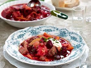 Borschtsch mit Sauerkraut Rezept