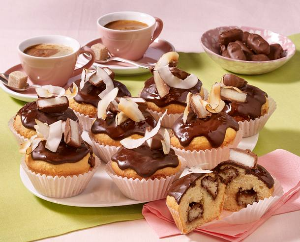bounty kokos muffins rezept lecker. Black Bedroom Furniture Sets. Home Design Ideas