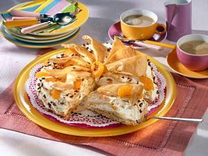Brandteig-Torte mit Mandarinen-Schokosahne Rezept