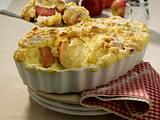 Bratapfel-Auflauf mit Quark-Grieß-Haube und Knusperstreusel Rezept