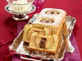 Bratapfel-Marzipan-Kastenkuchen Rezept