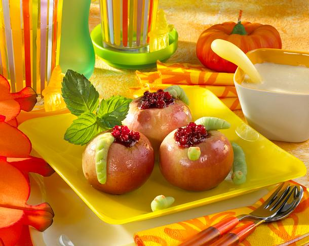 Bratapfel mit Wurm Rezept