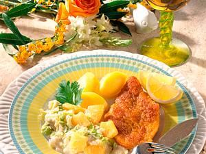 Bratfisch auf Ananas-Wirsing Rezept