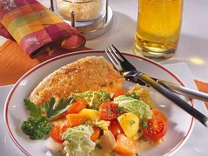 Bratfisch mit Chinakohl-Gemüse Rezept