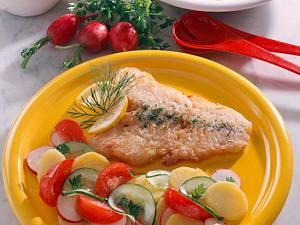 Bratfisch mit Kartoffelsalat Rezept