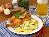 Brathähnchen mit Gurken-Kartoffel-Salat Rezept