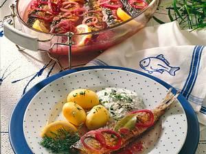 Bratheringe in Rotweinmarinade Rezept