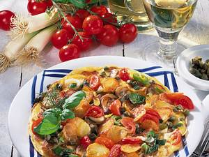 Bratkartoffel-Omelett Rezept