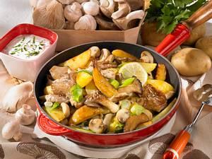 Bratkartoffel-Pilz -Pfanne Rezept
