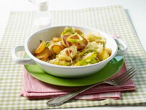 Bratkartoffel-Porree-Pfanne (Diät) Rezept