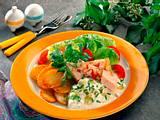 Bratkartoffeln und Geflügelsülze Rezept