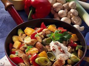 Bratwurst-Gemüsepfanne Rezept