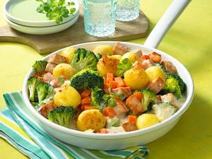Broccoli-Pfanne mit Kasseler Rezept