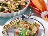 Broccoli-Quiche mit Birne und Käse Rezept