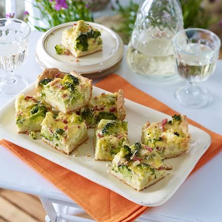 Broccoli-Speckkuchen vom Blech Rezept