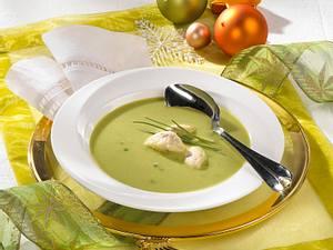 Broccolisuppe mit Schinkennocken Rezept