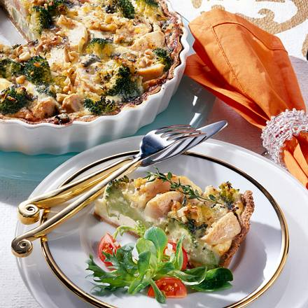 Brokkoli-Birnen-Quiche mit Gorgonzola Rezept
