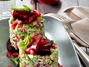 Brokkoli-Tatar mit Granatapfel Rezept