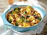 Brokkoli-Tortellini-Auflauf mit gekochtem Schinken und Pekannüssen Rezept