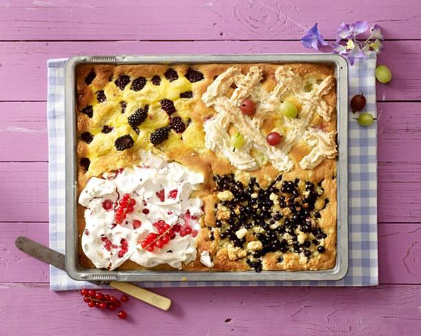 Brombeer-Kuchen vom Blech mit Limetten-Schmand-Guss Rezept