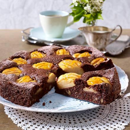 Brownie-Apfel-Tarte Rezept
