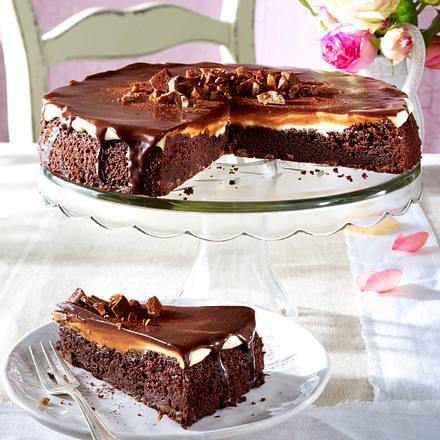 Brownie-Krokant-Tarte Rezept