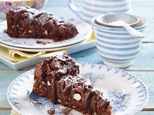 Brownie-Streuselkuchen mit Schokoladenguss Rezept