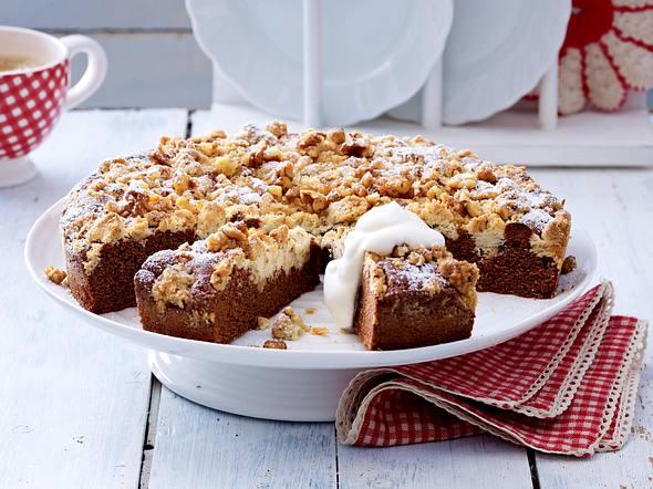 Brownie-Tarte mit Walnussstreuseln Rezept