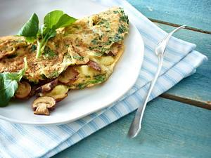 Brunnenkresse-Omelett mit Bergkäse Rezept
