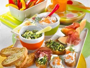 Bruschetta-Gemüse-Platte Rezept
