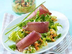 Bündner Fleisch auf Gemüse-Vinaigrette Rezept